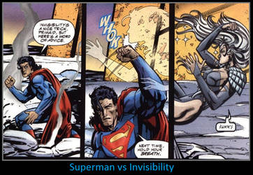 Superman vs Invisibility by KeybladeMagicDan
