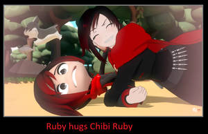 Ruby hugs Chibi Ruby