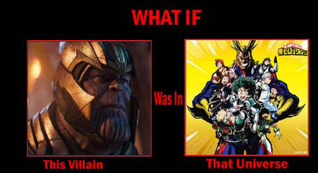 What if Thanos (MCU) in MHA