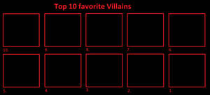 Top 10 Favorite villains