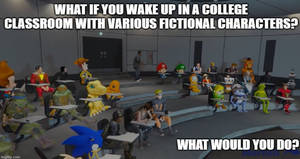 What if you wake up in Classroom with heroes
