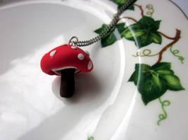 Toadstool Necklace by JewelleryByABC