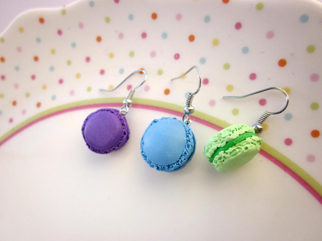 Macaron Earrings by JewelleryByABC