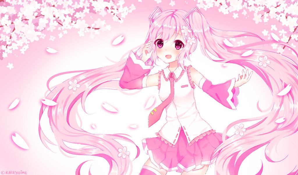 Sakura Miku Wallpaper By Karryhime On Deviantart