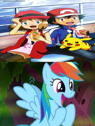 Rainbow Dash Supports AmourShipping by TheTrainMrMenPonyFan