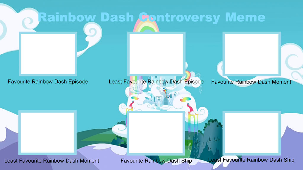 Rainbow Dash Controversy Meme Blank