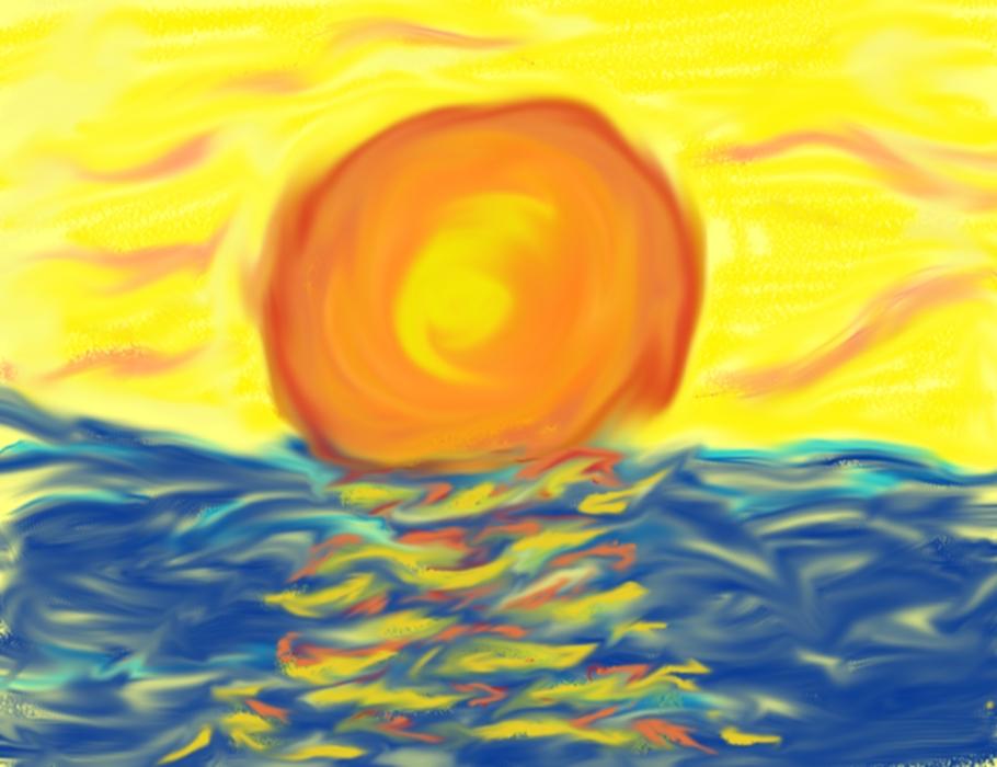 Sun ocean scene JPG by Lumbee3317