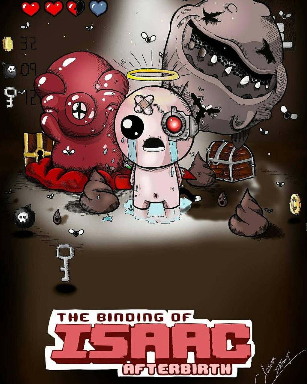 THE BINDING OF ISAAC AFTERBIRTH FANART By ClariumDraws On