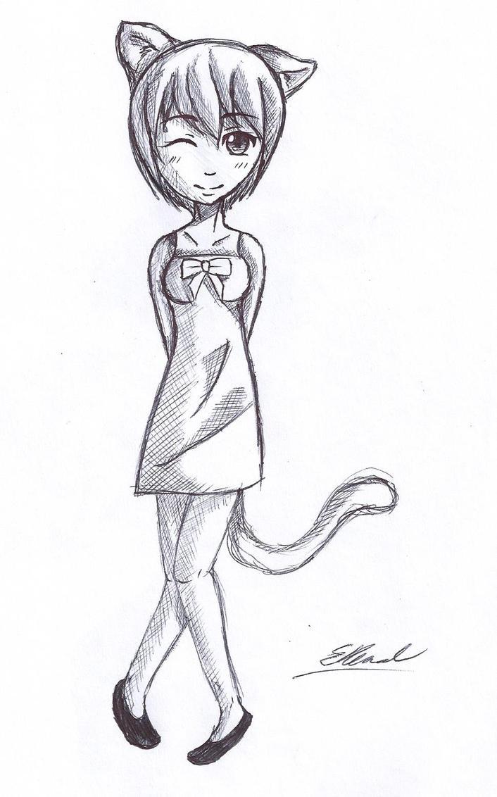 Cutie kitty girl by UndertakerisEpic