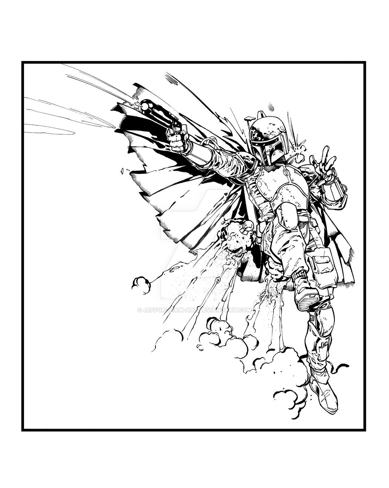 Boba Fett - Lashley by JeffGraham-Art
