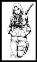 First Comics Girl Pin-up - 131215- inks