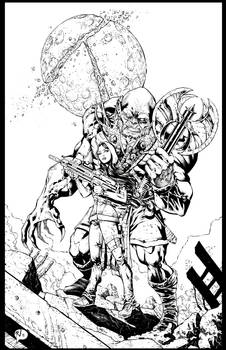 First Comics Cover Pinup - 131218 - inks
