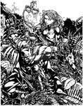 Lunatik Batman/Ivy - inks