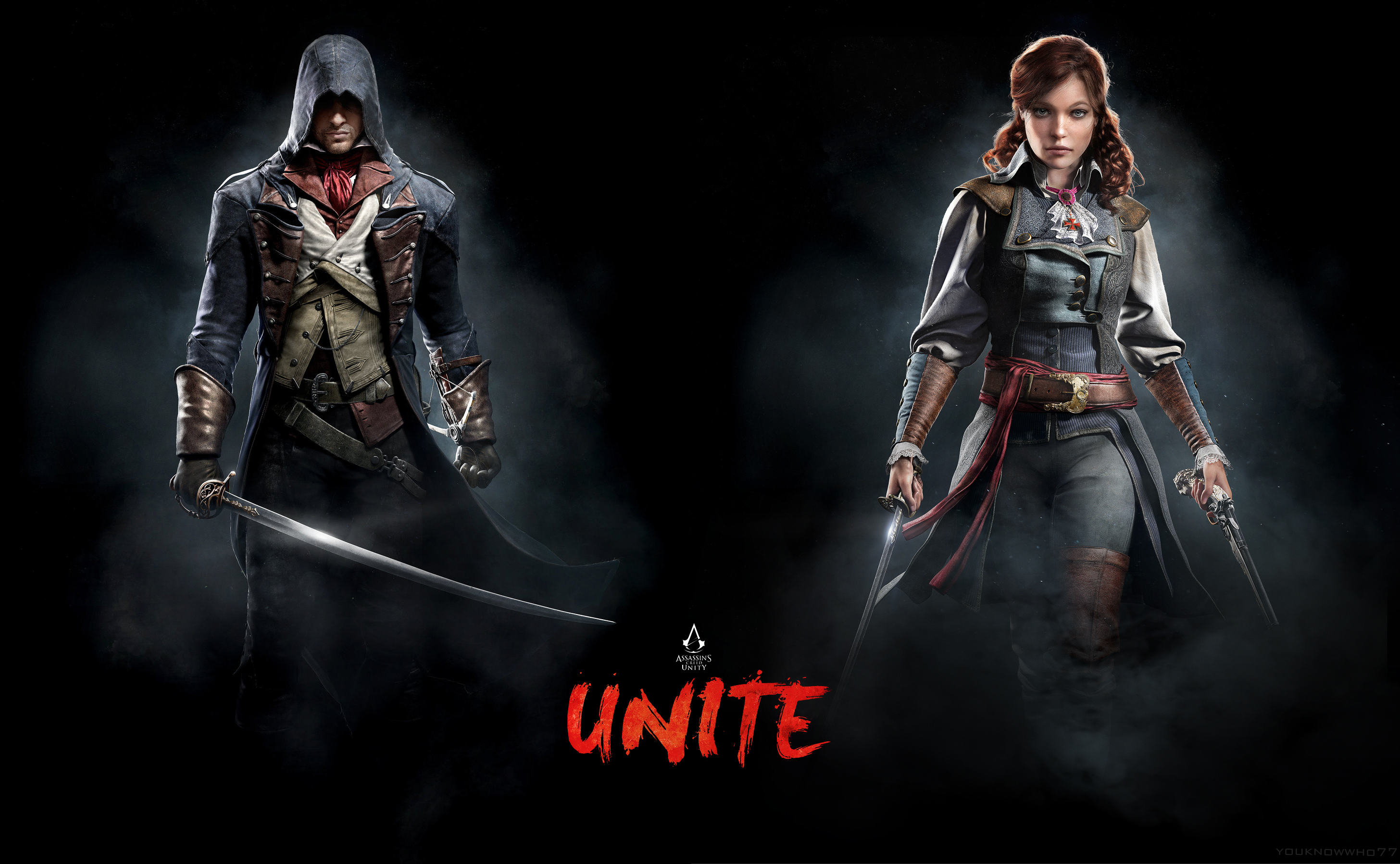 Ac Unity Arno And Elise Unite Wallpaper By Youknowwho77 On