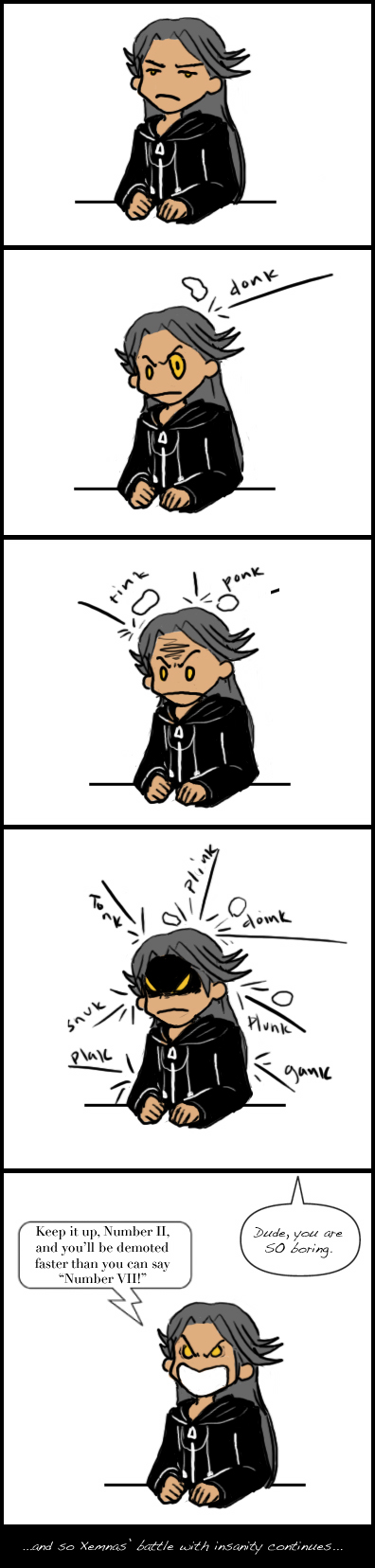 Xemnas vs the Rubber Bands by Chajiko