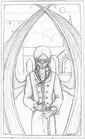 The Blind Man - pencil lineart