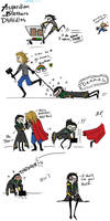 Loki and Thor - Brothers Doodles by Chajiko