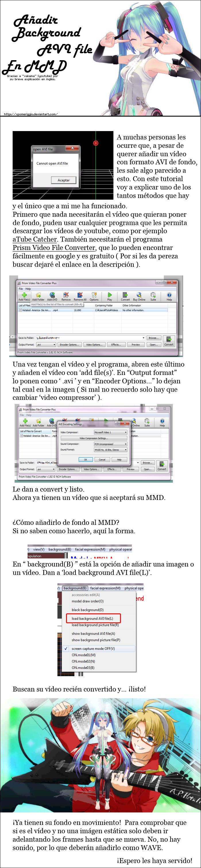 -Spanish Tutorial- Background AVI file by xPomeriggio