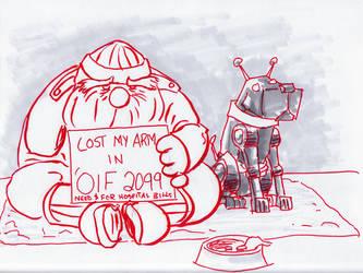 Sketchbomb:  Future Homeless by miro42