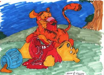 Sketchbomb:  Pooh and Tigger by miro42