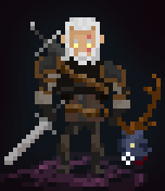 Pixel Witcher:  Geralt the Monster Hunter by miro42
