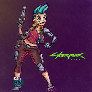 Cyberpunk Cartoon Style