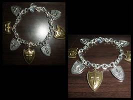 Shield Bracelet/Casually nerds it up