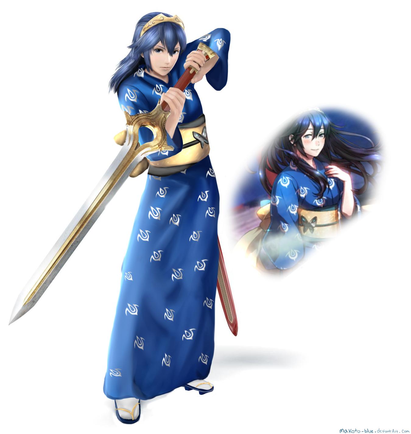 Yukata Lucina by Makoto-Blue on DeviantArt