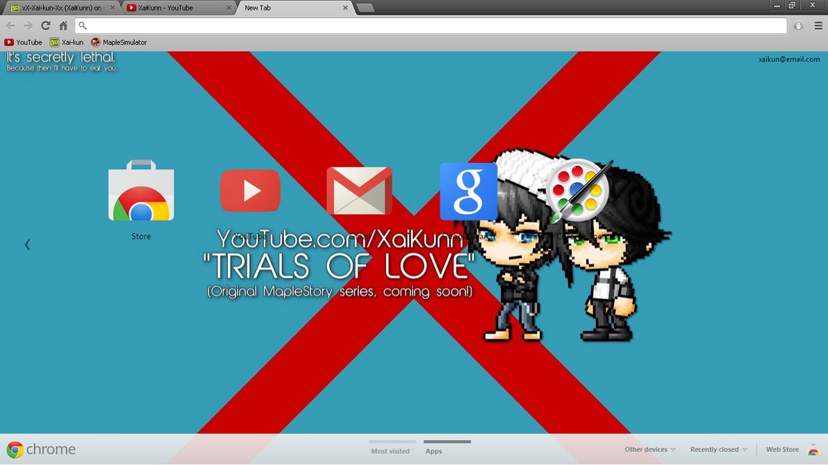 Google themes original - Google Chrome Theme By Xx Xai Kun Xx