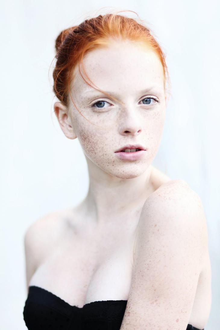 Pale redhead nude