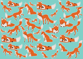 Fox Pattern Design by Fox-Candy