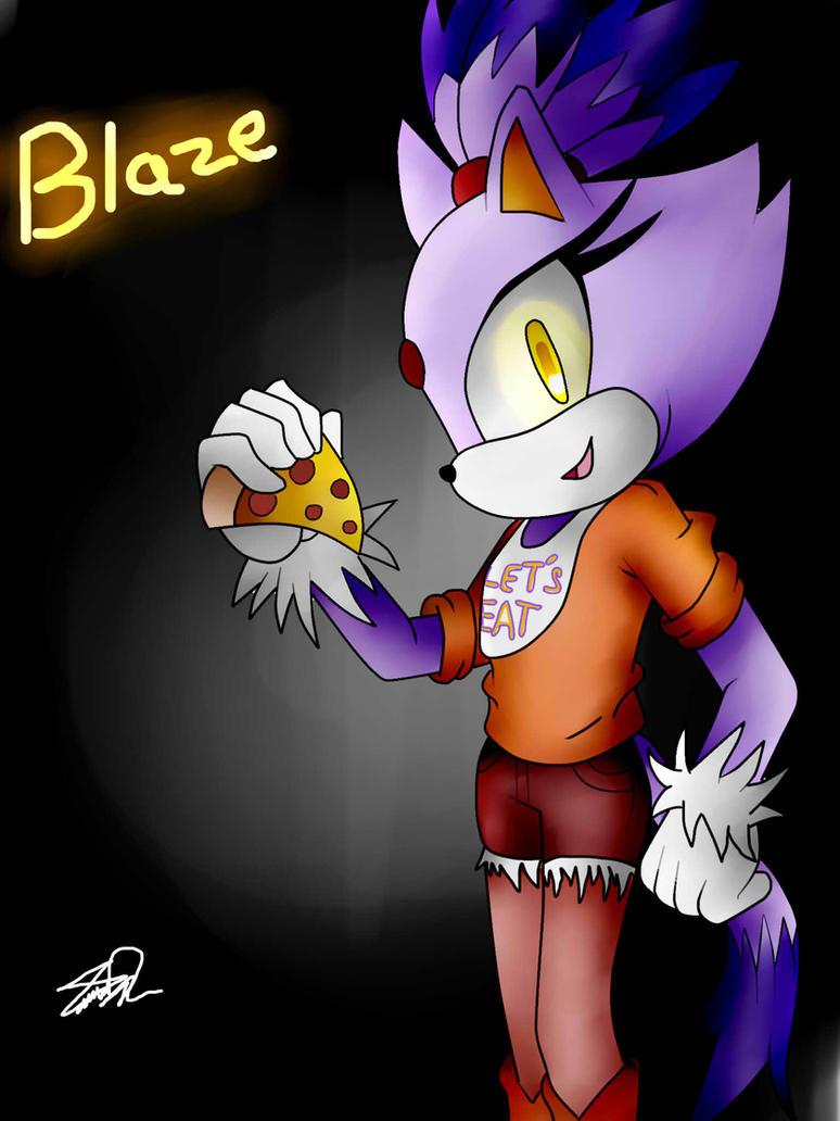 blaze the cat chica by idalyaoisonic1344 on deviantart