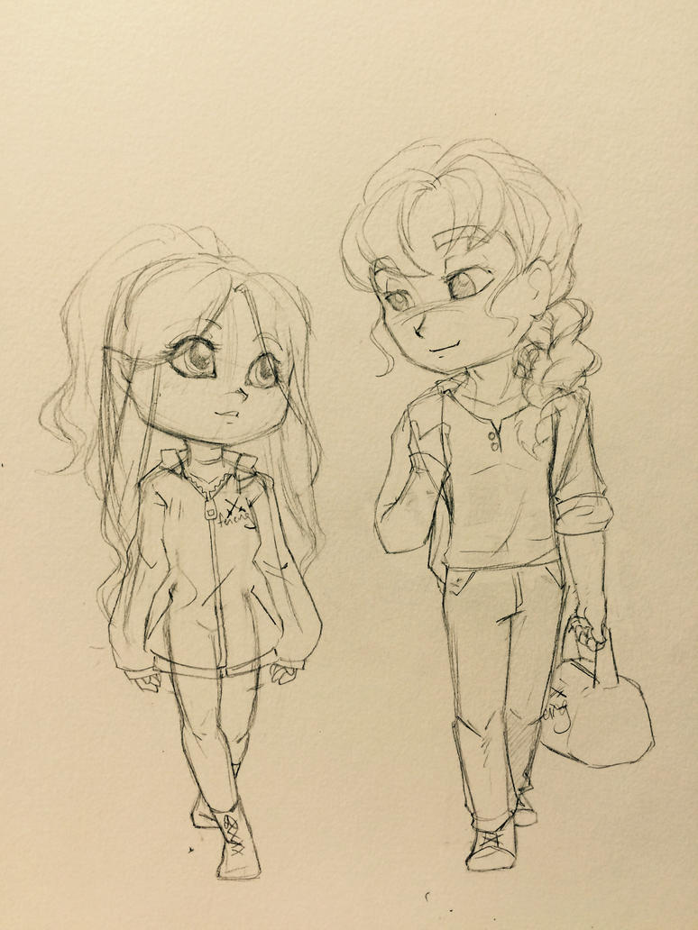 Letty and Alrick chibi WIP by AraRouge