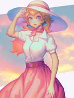 Shirt Peach by bellhenge