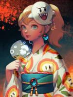 Yukata Peach by bellhenge