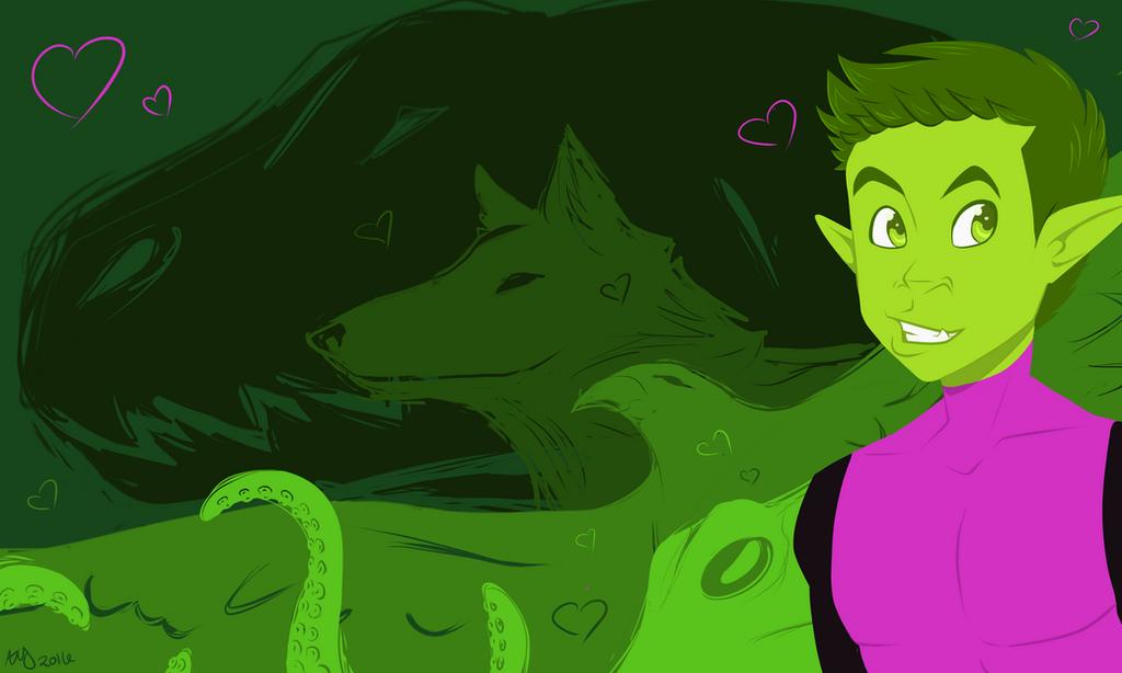 Beast Boy Wallpaper by NotAGoddess