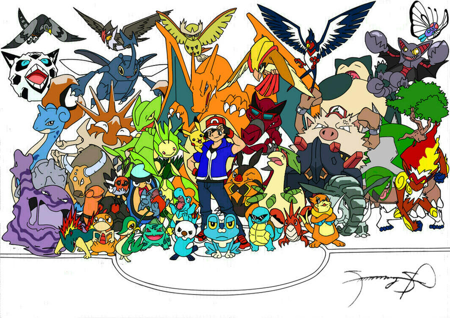 Ash 39 s all pokemon by samzkie29 on deviantart - Table des types pokemon xy ...