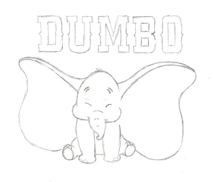 Dumbo Drawing Dumbo Drawing Dumbo by