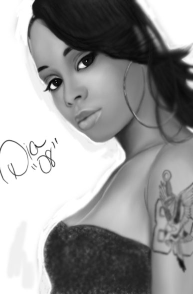 "Lisa ""Left Eye"" Lopes by DiamonikaDunsonArt"