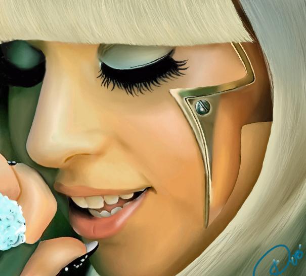 Lady Gaga by DiamonikaDunsonArt