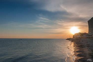 beach sunset in grado