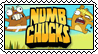 Numb Chucks stamp by SugaryDonutz