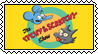 Itchy and Scratchy stamp by SugaryDonutz