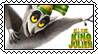 All Hail King Julien stamp by SugaryDonutz
