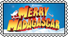 Merry Madagascar stamp by SugaryDonutz