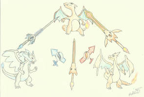 Charizard swords by XmateusD