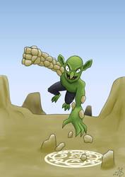 Goblin Golemancer by XmateusD