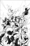 Inking Leinil Yu New Avengers