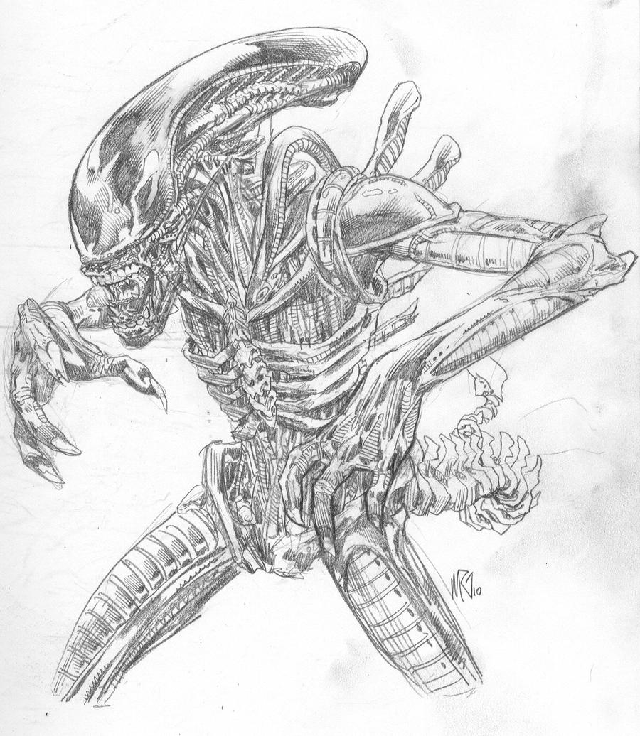 Alien Predator Coloring Pages