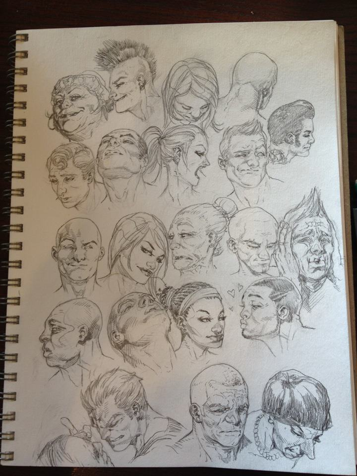 Faces Sketch Page by RansomGetty